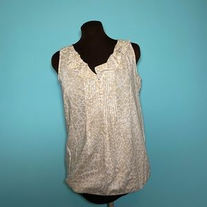 Sleeveless shirt by LOFT - women's small